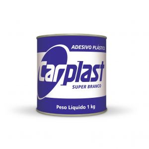 Plastic White Carplast Sticker