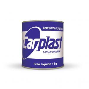 Plastic White Carplast Sticker
